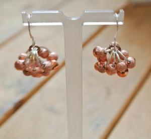 Stardust and bicone copper earrings - DSC_0636