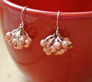 Stardust and bicone copper earrings - DSC_0644