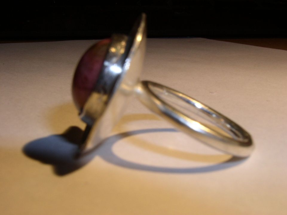 Silver and Agate Ring Front View