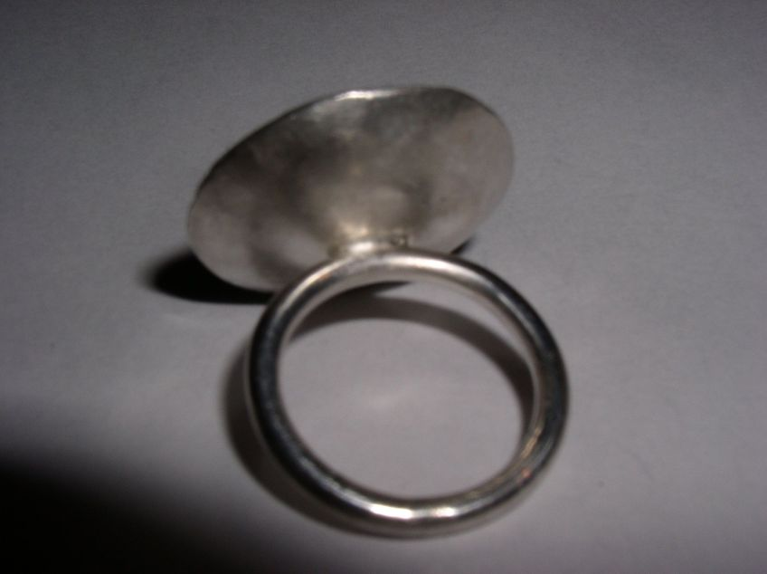 Silver and Agate Ring Back View
