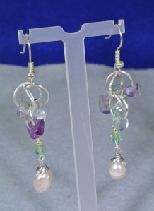 Fluorite and Pearl Dangles - DSC_0348