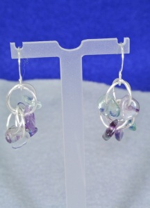 Fluorite chain maille earrings - DSC_0353