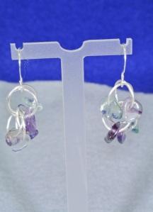Fluorite chain maille earrings - DSC_0353